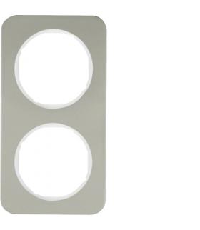 R.1 Ramka 2-krotna, stal szlachetna/biały Berker 10122114