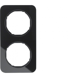 R.1 Ramka 2-krotna, szkło, czarny Berker 10122116