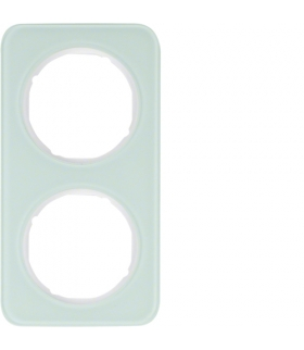 R.1 Ramka 2-krotna, szkło, biały Berker 10122109