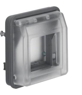 W.1 Adapter z przezroczystą pokrywą do modułów systo, IP55, szary Berker 18213500