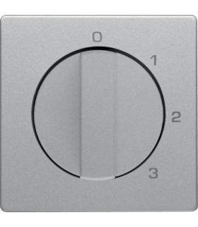 Q.x Płytka czołowa z pokrętłem do łącznika 3-pozycyjnego z pozycją zerową i nadrukiem, alu aksamit, lakierowany Berker 10966084