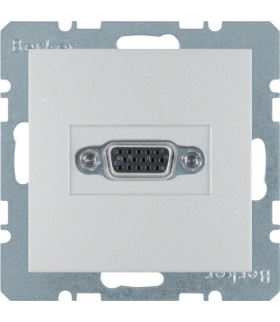B.Kwadrat/B.7 Gniazdo VGA, alu, mat Berker 3315401404