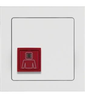 Q.3 System przywoławczy Przycisk przywołania z ramką, biały aksamit Berker 52066099