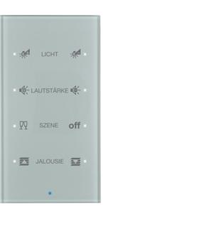 KNX TS Sensor dotykowy 4-krotny konfigurowalny,  szkło,  alu