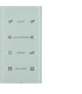 R.3 Sensor dotykowy 4-krotny konfigurowalny,  szkło,  biały