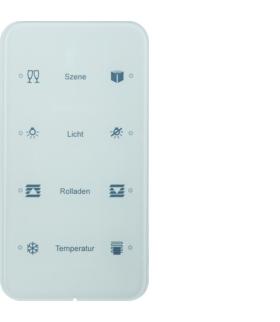 R.1 Sensor dotykowy 4-krotny konfigurowalny, szkło, biały