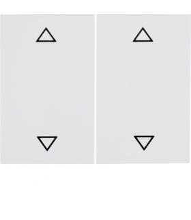 """K.1 Klawisze z nadrukiem symbolu """"strzałki"""" do łącznika 2-klawiszowego, biały Berker 14357209"""
