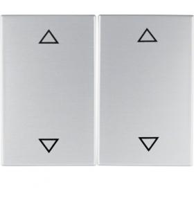 """K.5 Klawisze z nadrukiem symbolu """"strzałki"""" do łącznika 2-klawiszowego, alu Berker 14357203"""