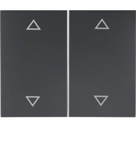 """K.1 Klawisze z nadrukiem symbolu """"strzałki"""" do łącznika 2-klawiszowego, antracyt mat, lakierowany Berker 14357206"""
