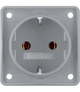 Integro Flow Gniazdo SCHUKO, szary, mat Berker 947782506