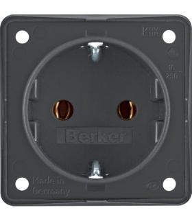 Integro Flow Gniazdo SCHUKO, antracyt, mat Berker 947782505