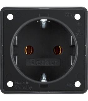 Integro Flow Gniazdo SCHUKO, czarny, mat Berker 947782503