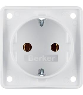 Integro Flow Gniazdo SCHUKO, biały, mat Berker 947782502