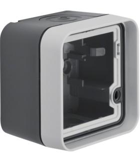 W.1 Adapter natynkowy 1-kr, IP55, szary Berker 6118913505