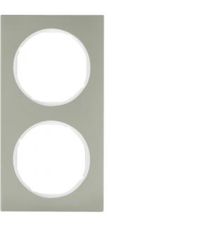 R.3 Ramka 2-krotna, stal szlachetna/biały Berker 10122214