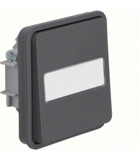 W.1 Moduł łącznika uniwersalnego z podświetlanym polem opisowym, IP55, szary Berker 30863535