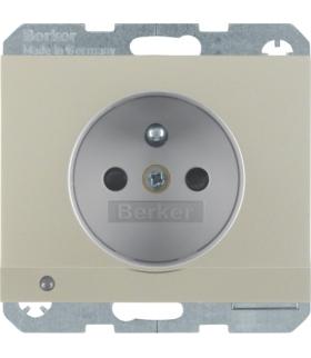 K.5 Gniazdo z uziemieniem i podświetleniem orientacyjnym LED, stal szlachetna Berker 6765107004