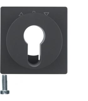 Q.x Płytka czołowa do łącznika żaluzjowego na klucz, antracyt aksamit, lakierowany Berker 15066086