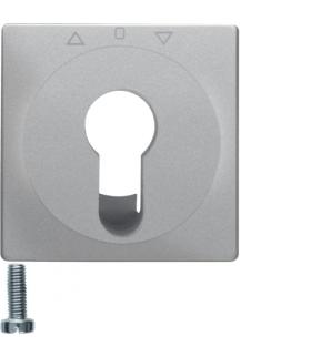 Q.x Płytka czołowa do łącznika żaluzjowego na klucz, alu aksamit, lakierowany Berker 15066084
