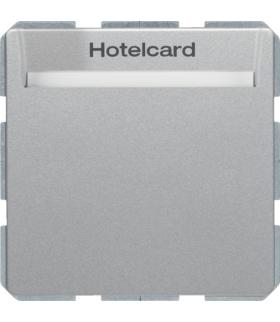 Q.x Łącznik przekaźnikowy na kartę hotelową, alu aksamit, lakierowany Berker 16406094