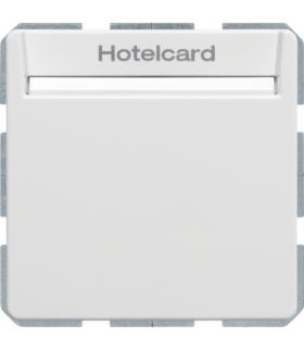 Q.x Łącznik przekaźnikowy na kartę hotelową, biały, aksamit Berker 16406099