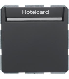 Q.x Łącznik przekaźnikowy na kartę hotelową, antracyt, aksamit Berker 16406096