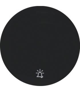 """R.1/R.3 Klawisz z nadrukiem symbolu """"dzwonek"""" do łącznika klawiszowego pojedynczego, czarny, połysk Berker 16202025"""