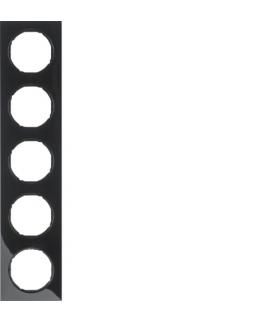 R.3 Ramka 5-krotna, czarny, połysk Berker 10152245