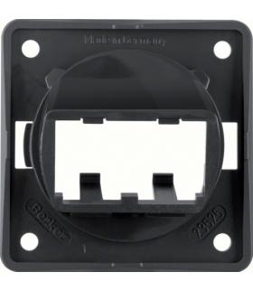 Integro Flow Płytka nośna do 2 modułów MINI-COM, czarny, połysk Berker 9455905
