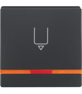 Q.x Nasadka do łącznika na kartę hotelową z nadrukiem i pomarańczową soczewką, antracyt, aksamit Berker 16406086