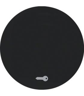 """R.1/R.3 Klawisz z nadrukiem symbolu """"klucz"""" do łącznika klawiszowego pojedynczego, czarny, połysk Berker 16202015"""