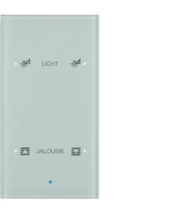 KNX TS Sensor dotykowy 2-krotny konfigurowalny,  szkło,  białe