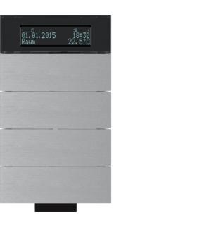 B.IQ Przycisk IR 4-kr z reg. temp. i wyśw. aluminium