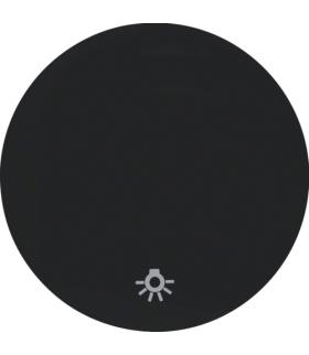 """R.1/R.3 Klawisz z nadrukiem symbolu """"światło"""" do łącznika klawiszowego pojedynczego, czarny, połysk Berker 16202035"""