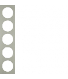 R.3 Ramka 5-krotna, stal szlachetna/biały Berker 10152214