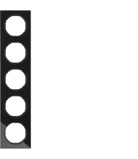 R.3 Ramka 5-krotna, szkło, czarny Berker 10152216