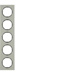 R.3 Ramka 5-krotna, stal szlachetna/czarny Berker 10152204