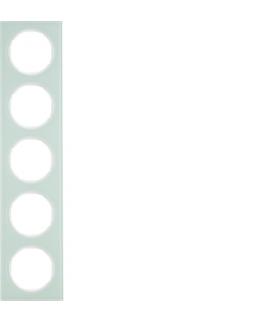 R.3 Ramka 5-krotna, szkło, biały Berker 10152209