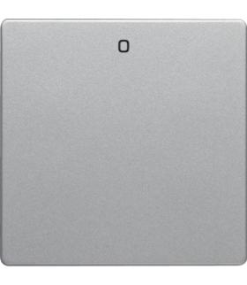 """Q.x Klawisz z nadrukiem """"0"""" do łącznika 1-klawiszowego, alu aksamit, lakierowany Berker 16226084"""