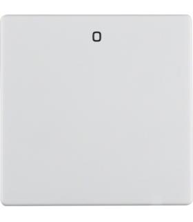 """Q.x Klawisz z nadrukiem """"0"""" do łącznika 1-klawiszowego, biały, aksamit Berker 16226089"""