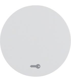 """R.1/R.3 Klawisz z nadrukiem symbolu """"klucz"""" do łącznika klawiszowego pojedynczego, biały, połysk Berker 16202059"""