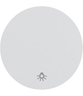 """R.1/R.3 Klawisz z nadrukiem symbolu """"światło"""" do łącznika klawiszowego pojedynczego, biały, połysk Berker 16202079"""
