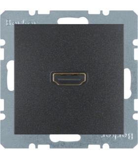 B.x Gniazdo HDMI z przyłączem 90°, antracyt, mat Berker 3315431606