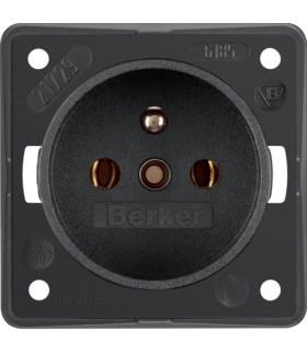 Integro Flow Gniazdo z uziemieniem, antracyt, mat Berker 961852505