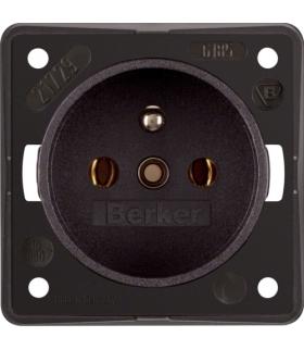 Integro Flow Gniazdo z uziemieniem, brązowy, mat Berker 961852501