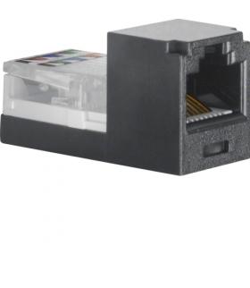 Akcesoria osprzęt Mini Jack 8-biegunowy RJ45, kat.3, czarny Berker 1980