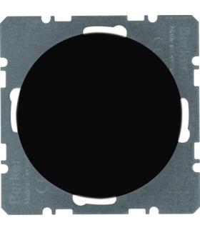 R.1/R.3 Zaślepka z płytką czołową czarny, połysk Berker 10092045
