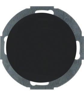 R.classic Zaślepka z płytką czołową czarny, połysk Berker 10092035