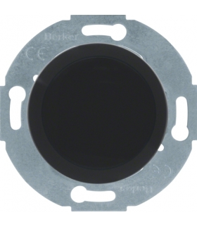 Serie 1930/Glas Zaślepka z elementem centralnym, czarny Berker 67100921