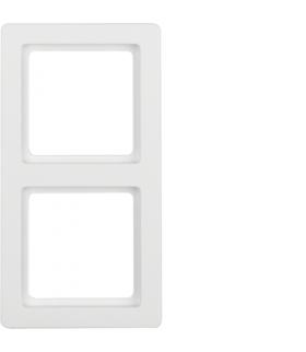 Q.1 Ramka 2-krotna, biały, aksamit Berker 10126089